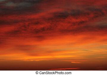 天空, 日出, 多雲