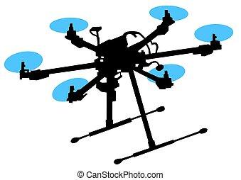 天空, quadrocopter