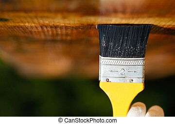 天花板, 木制, 在上方, 表面, 滑動, 畫筆