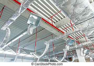 天花板, 火, 系統, 戰斗, 空氣, 安置, 限制, 靈活