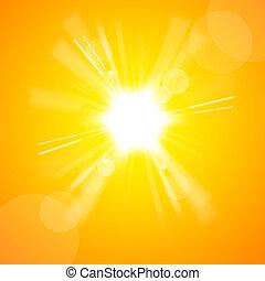 太陽, 明亮, 黃色