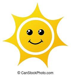 太陽, 白色, 矢量, 插圖