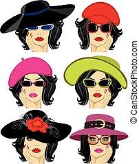 夫人, 帽子