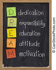 奉獻, 態度, 教育, 責任, 動机