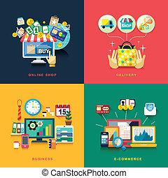 套間, 事務, 購物, 交付, 設計, 電子商務, 在網上