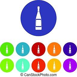 套間, 集合, 圖象, 玻璃, 矢量, 瓶子