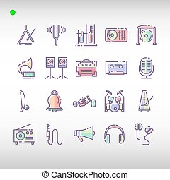 套間, 集合, 音樂, 顏色, 儀器, 風格, 圖象