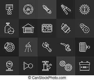 套間, 風格, outline, 圖象, 現代, 打擊, 稀薄的線, 設計