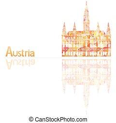 奧地利, 符號, 矢量, 插圖