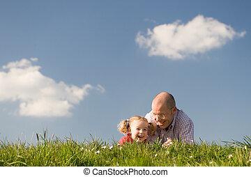 女儿, 父親, 愉快