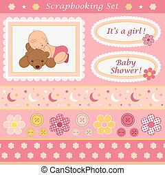 女嬰, 集合, scrapbooking