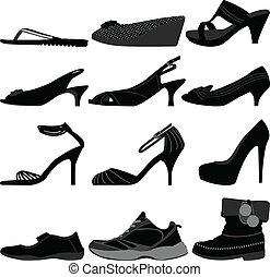 女孩, 婦女, 鞋子, 女性, 鞋類