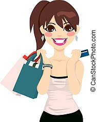 女孩, 購物, 青少年