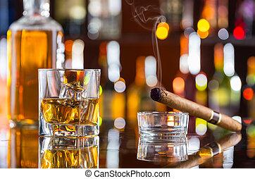 威士忌酒, 雪茄酒吧間, 飲料, 抽煙