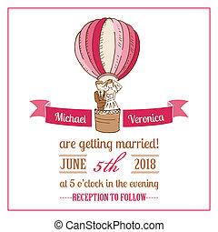 婚禮, -, 矢量, 邀請, 剪貼簿, 設計, 卡片