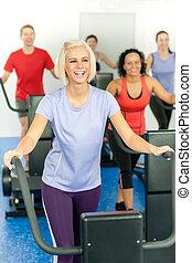 婦女, 健身, 年輕, 跑, 單調的工作, 類別