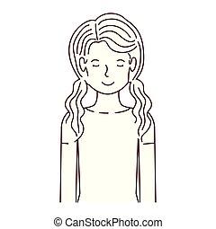 婦女, 字, 年輕, avatar