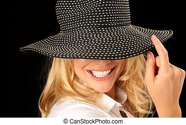 婦女, 帽子, 美麗