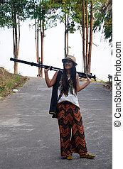 婦女, 泰國, 攝影