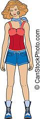 婦女, 短褲