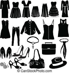婦女, 衣服, 混雜