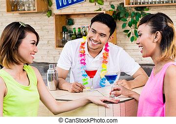 婦女, 酒吧, 雞尾酒, 二, 黨, 有