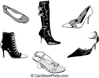 婦女, 鞋子, 第一流