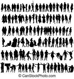 婦女, 黑色半面畫像, 人們, 矢量, 黑人
