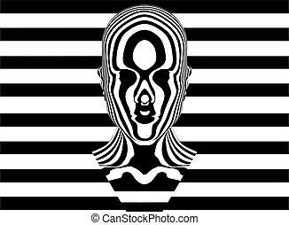 婦女, zebra, 矢量