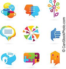 媒介, 社會, 网絡, 彙整, 圖象