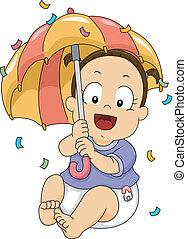 嬰兒送禮會, 女孩, 傘