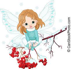 嬰孩, 仙女, 冬天