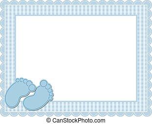 嬰孩, 方格花布, 框架