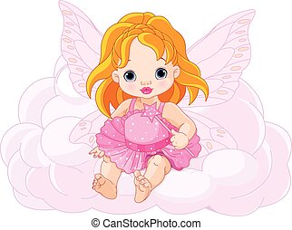嬰孩, 漂亮, 仙女