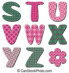 字母表, 剪貼簿, 補綴品