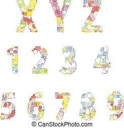 字母表, 插圖, 創造性, 明亮, 矢量, 喜劇演員, 卡通