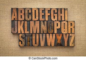 字母表, 摘要, 木頭, 類型, 葡萄酒