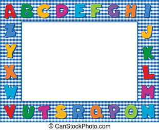 字母表, 方格花布, 框架