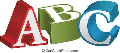 字母表, 洗禮盆, 信件, abc, 教學