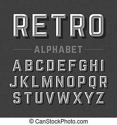 字母表, 風格, retro