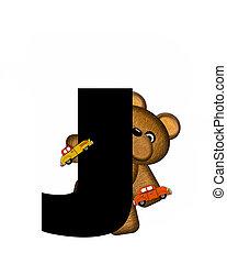 字母表, j, teddy, 開車, 汽車