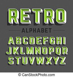 字母表, retro風格