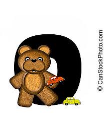 字母表, teddy, 開車, o, 汽車