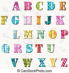 字母表, textured