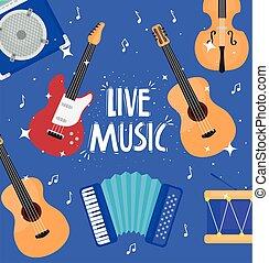 字母, 音樂, 音樂儀器, 活, 圖案