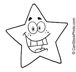 字, 卡通, 吉祥人, 星