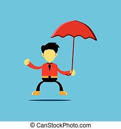 字, 藏品 傘, 插圖, 卡通