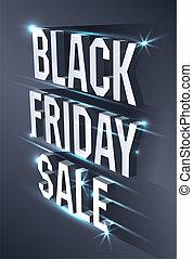 季節性, 黑暗, 等量, 概念, 正文, 星期五, offer., 金屬, sale., 背景。, 明亮, 黑色, 做廣告, 廣告欄, 旗幟
