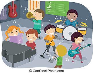 孩子, 音樂房間