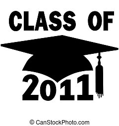 學校, 帽子, 畢業, 高, 學院, 2011, 類別